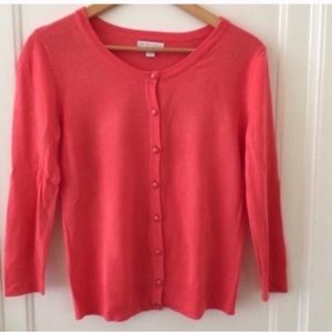 New York & Company Coral Cardigan Button